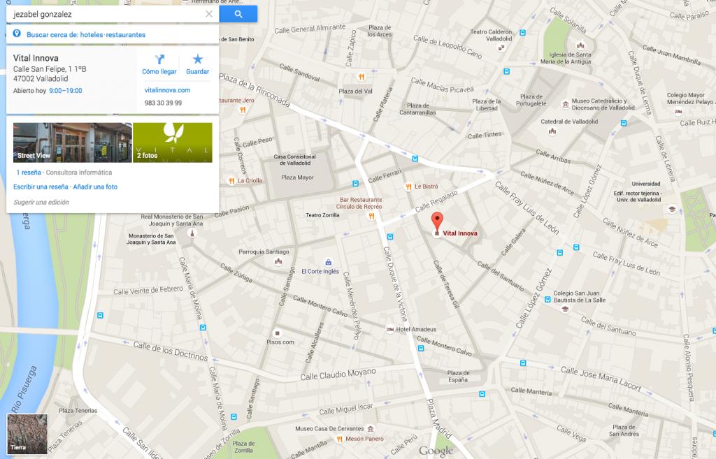 Nuestra ubicación en Google Maps