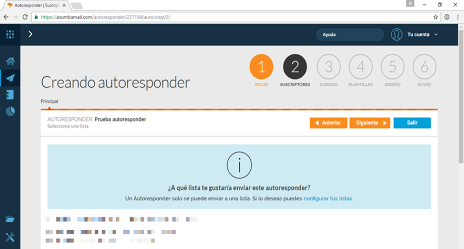 autoresponder email marketing paso 2