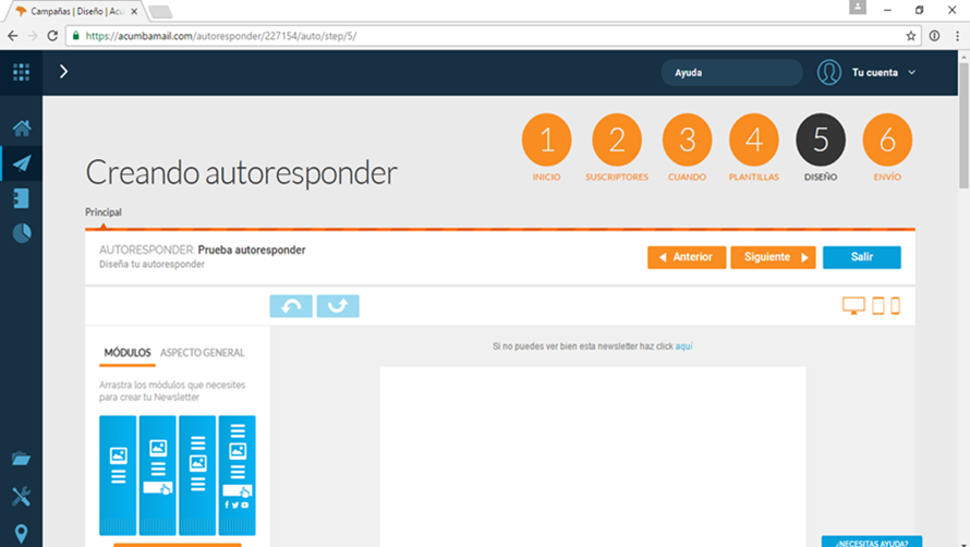 autoresponder email marketing paso 5