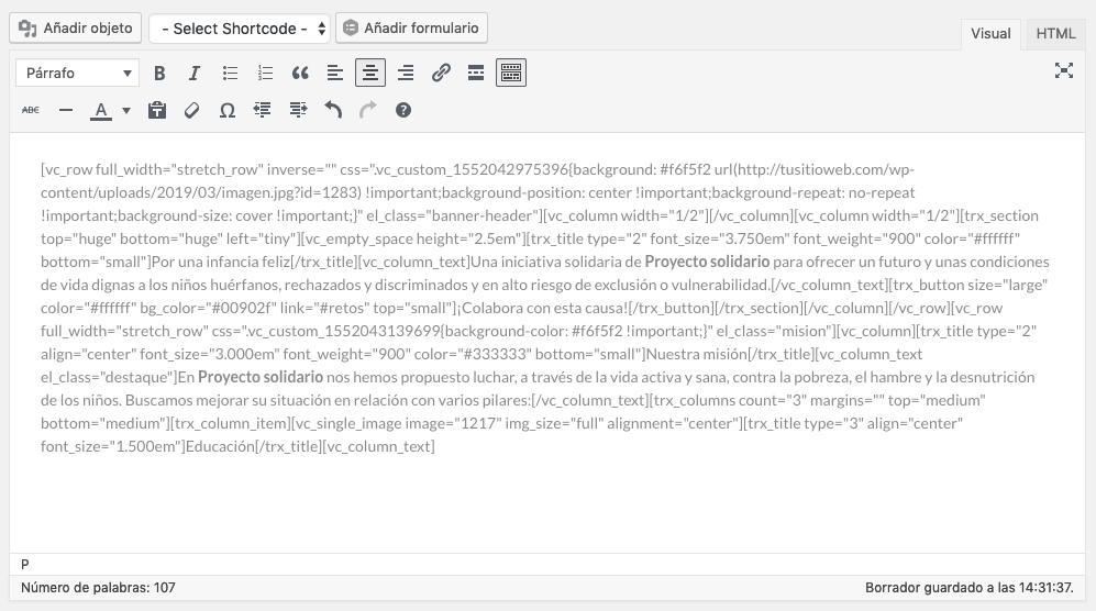 Código editores visuales