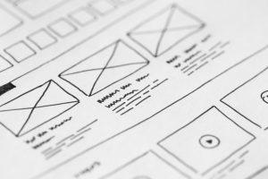 wireframe de diseño web seo para móvil