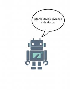 robot pidiendo datos de analitica web tienda online
