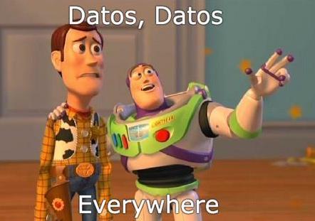 meme de buzzlightyear con datos everywhere