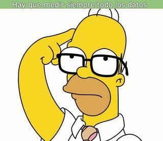 imagen de un meme de homer simpson con una frase sobre wpo