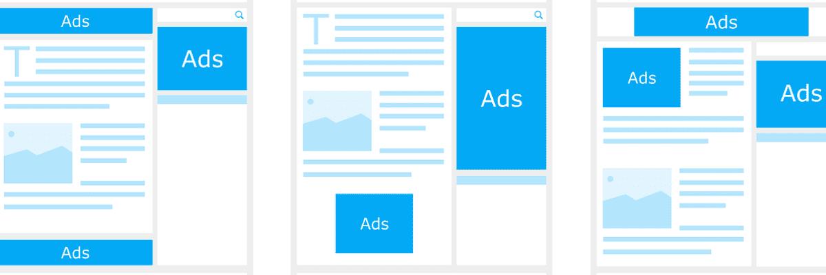 imagen de mockups con diferentes ejemplos de anuncios de campañas de google ads