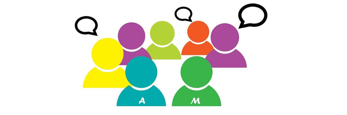 imagen de un grupo de personas hablando que hacen referencia a un foro creado con bbpress