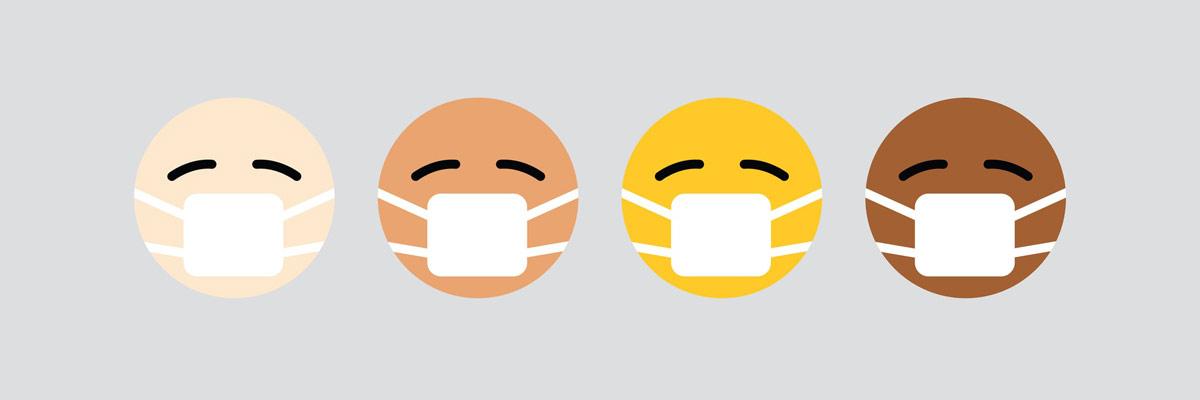imagen de emojis con mascarilla